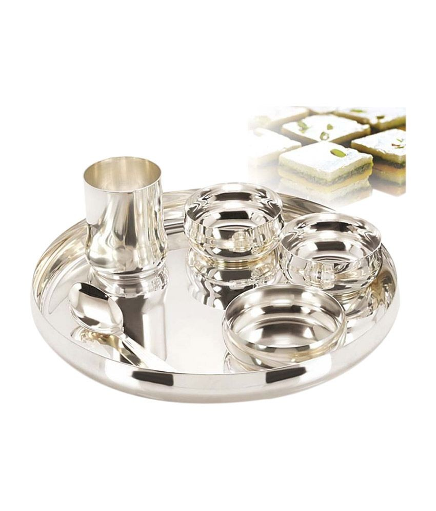 Gurukrupa Silver Plated Dinner Set