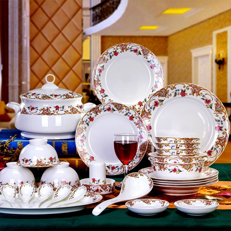 gorgious floral dinner set