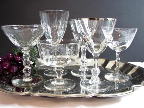 midium size glass set