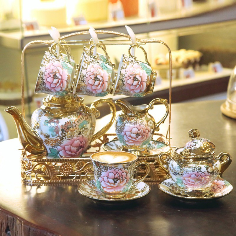 rose print crockery set