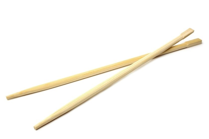 yellow wooden-chopsticks